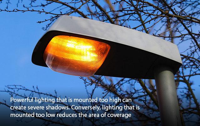 Lighting Mounted High